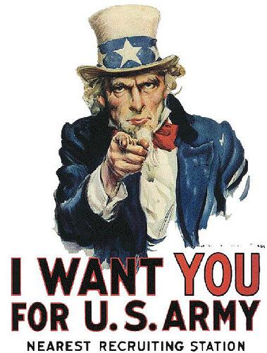 美國徵兵海報I WANT YOU(圖片來源:網路)