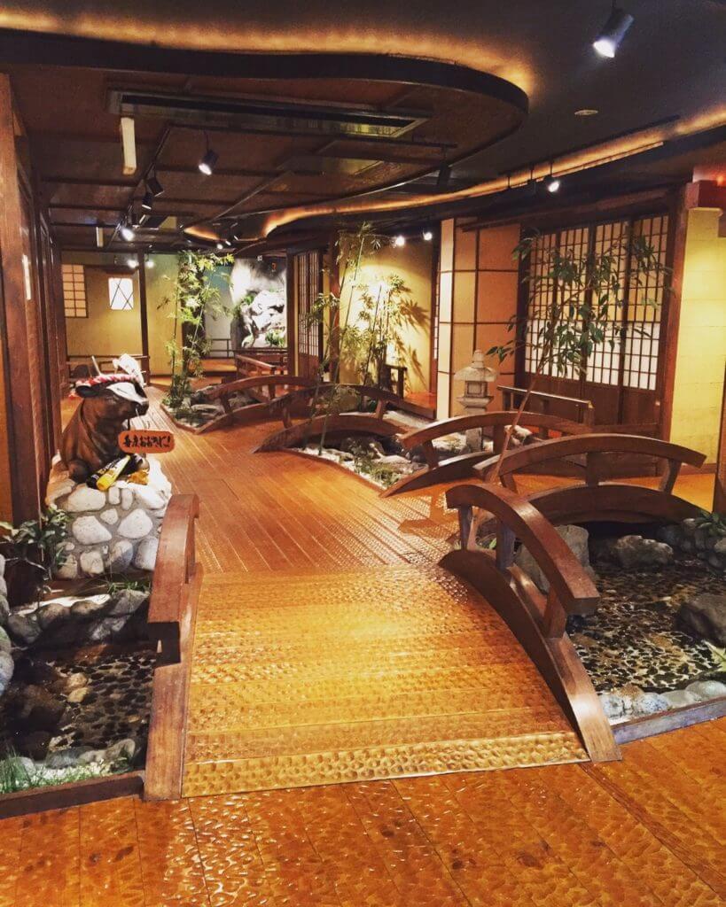大阪心齋橋燒肉一丁的精緻造景。(圖/吐司客拍攝)