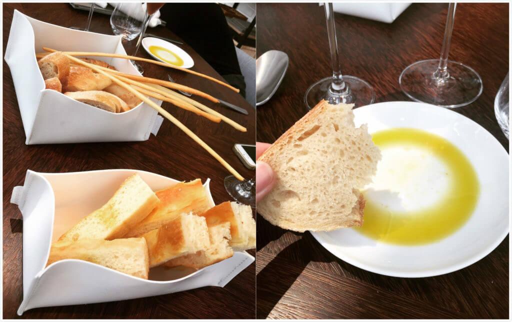 IL MERCATO麵包拼盤與來自義大利的橄欖油。(圖/吐司客拍攝)