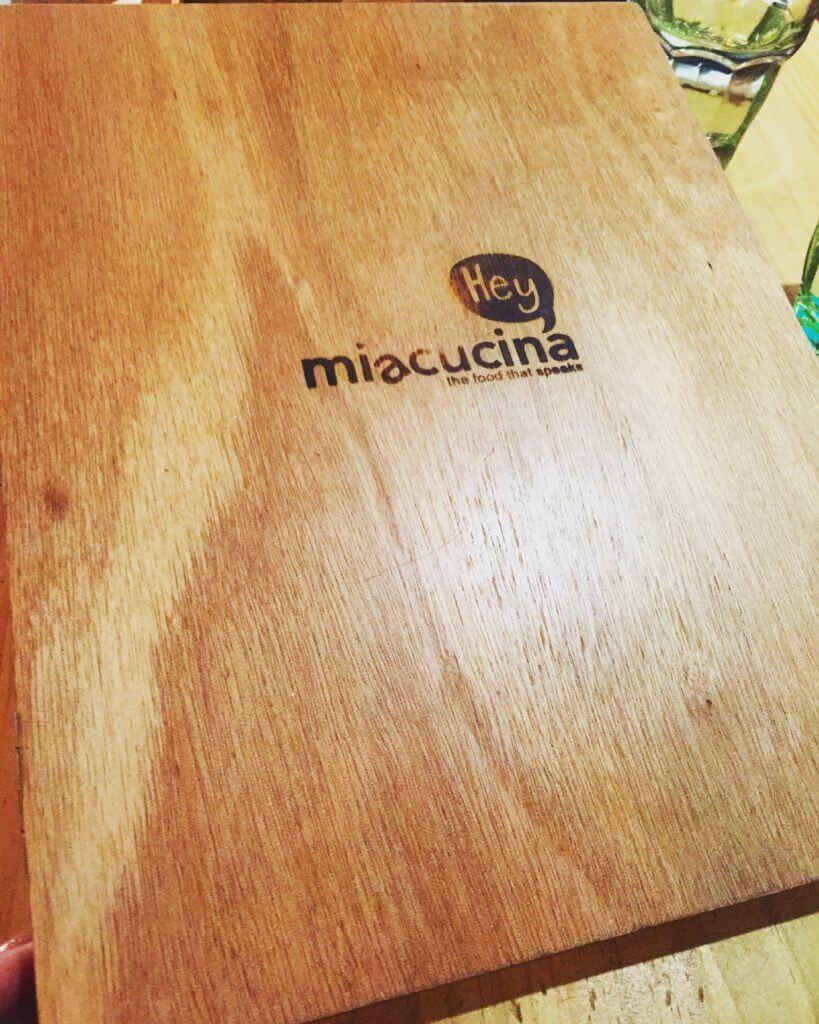 MiaCucina的菜單。(圖/吐司客拍攝)