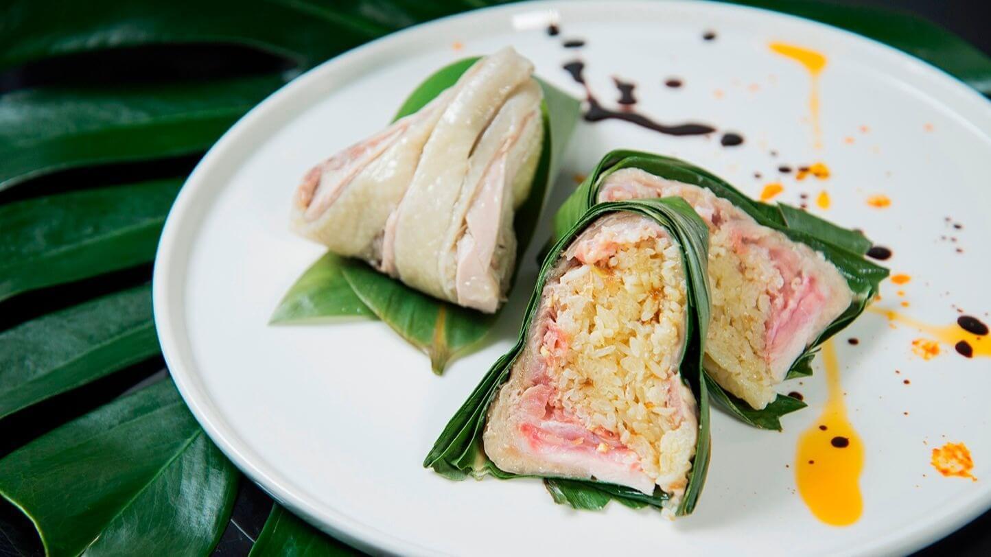 台南晶英酒店「海南薩索雞粽」,美味售價每顆180元。 (圖片/台南晶英酒店提供)