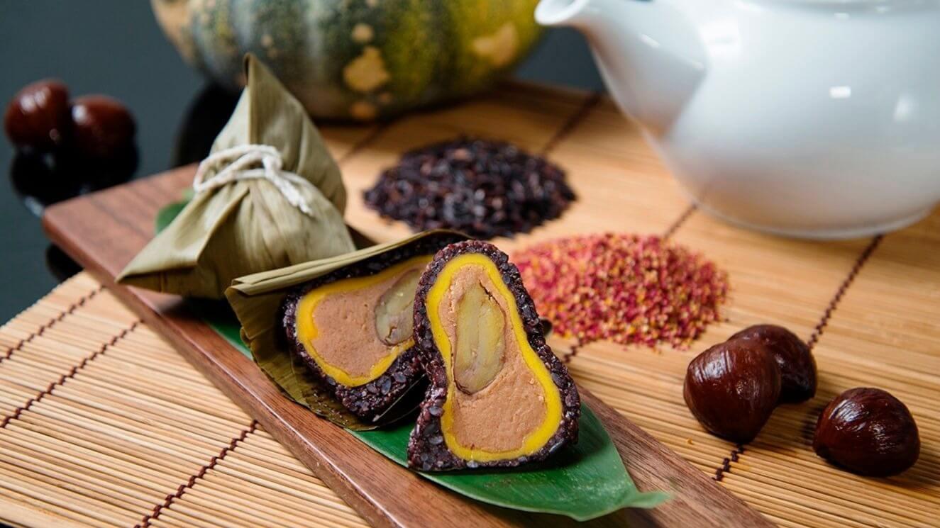 台南晶英酒店「紫最金迷養生粽」,每顆160元。 (圖片/台南晶英酒店提供)