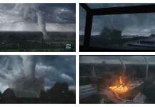 加拿大多倫多的龍捲風 真可怕?這是災難電影片段,不是天災實錄!