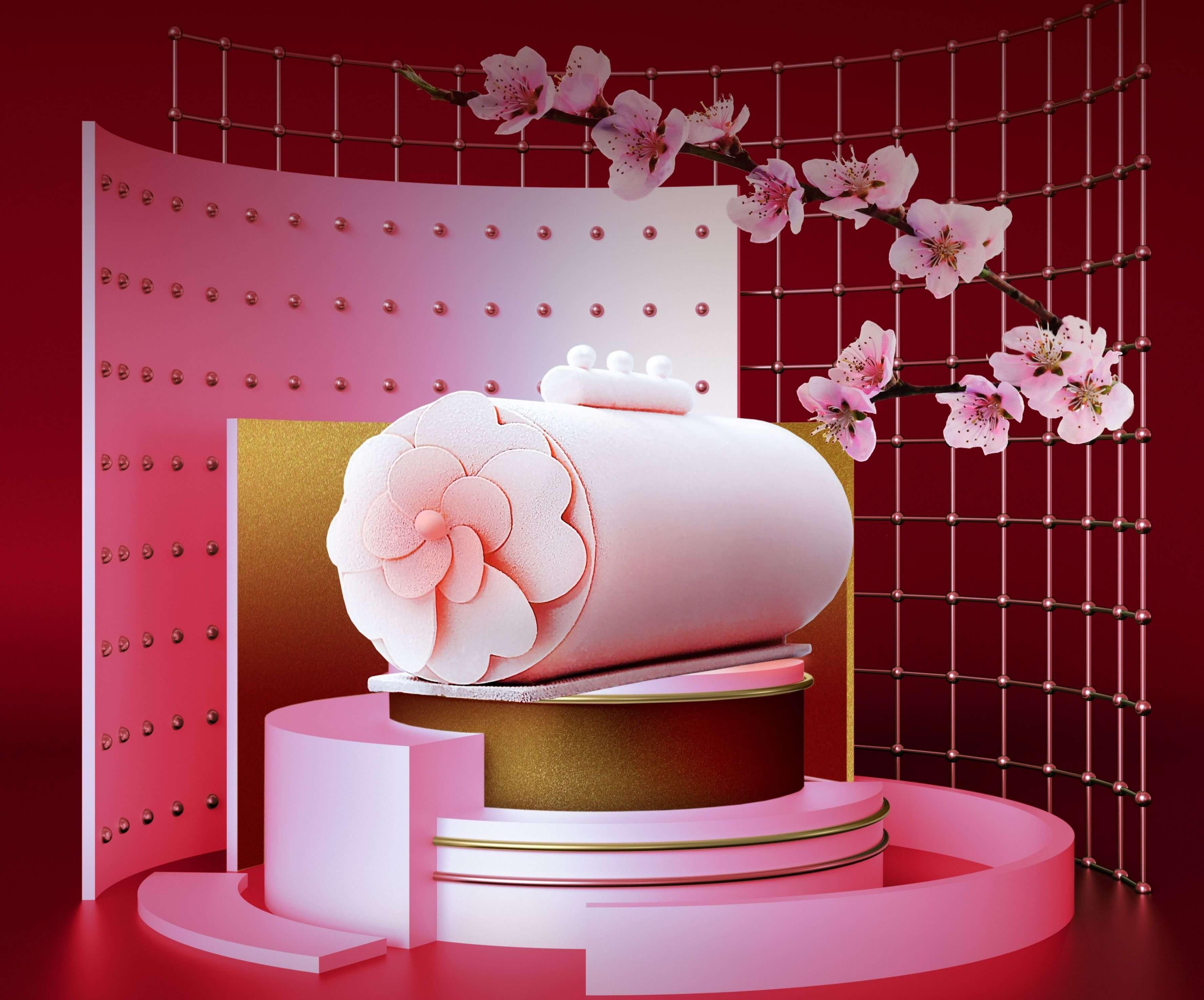 台北萬豪酒店母親節蛋糕甜蜜芋兒心。(圖片/台北萬豪酒店提供)