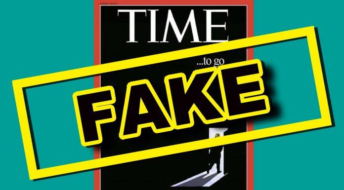 「特朗普,是時候該離場了!」是 美國《時代》雜誌有史以來最好的封面 ?又是謠言啦!